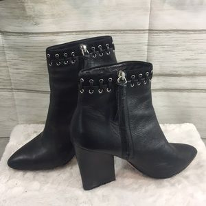 Rebecca Minkoff Black Leather Booties